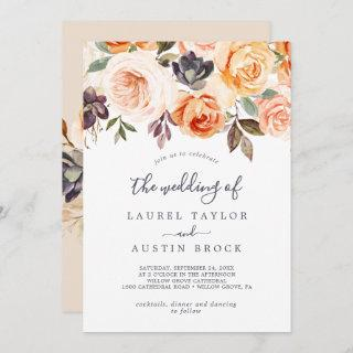 Rustic Earth Florals The Wedding Of Invitations