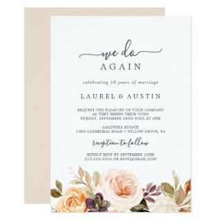 Rustic Earth Florals We Do Again Vow Renewal Invitation
