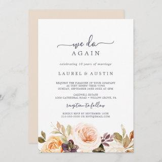 Rustic Earth Florals We Do Again Vow Renewal Invitations