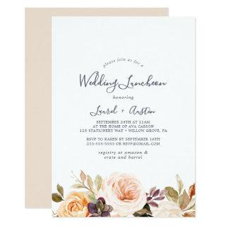 Rustic Earth Florals Wedding Luncheon Invitation