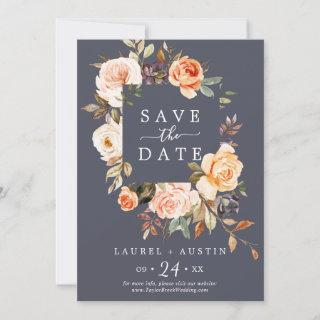 Rustic Earth | Purple Save the Date Announcement