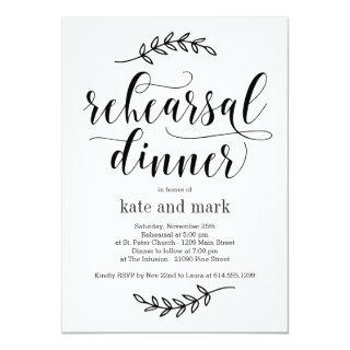 Rustic Elegance EDITABLE COLOR Rehearsal Dinner Invitations