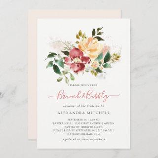 Rustic Elegance | Floral Brunch and Bubbly Invitations