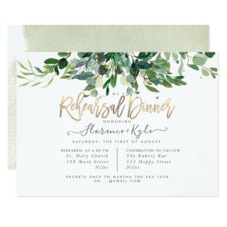 Rustic Eucalyptus, Blue Gum Rehearsal Dinner Invitations