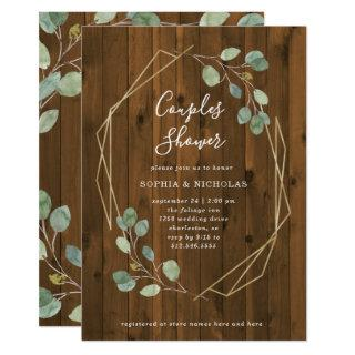 Rustic Eucalyptus | Geometric Couples Shower Invitation