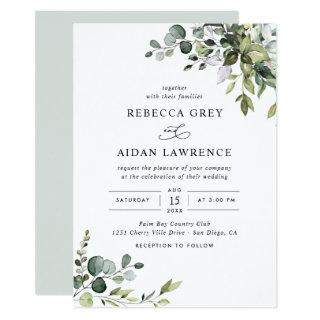 Rustic Eucalyptus Greenery Wedding Invitation