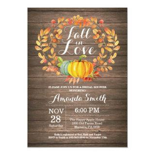 Rustic Fall Bridal Shower Invitations Card