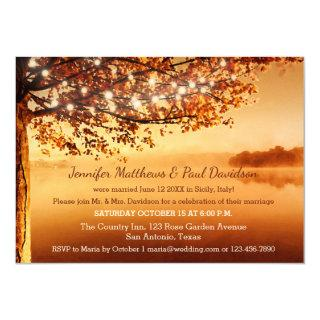 Rustic Fall Elope or Post Wedding Party Invitations