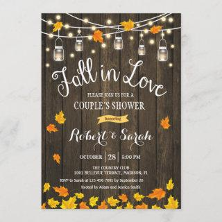 Rustic Fall In Love Couple's Shower