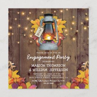 Rustic Fall String Lights Autumn Engagement Party