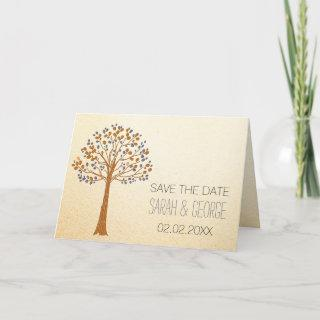 Rustic Fall Wedding Save The Date Invitation