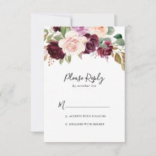 Rustic Floral and Botanical Foliage RSVP