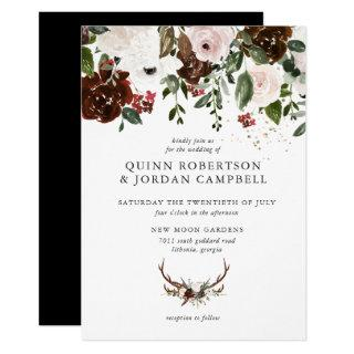 Rustic Floral | Boho Botanical Wedding Invitations
