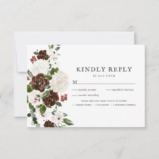 Rustic Floral | Boho Greenery RSVP w/Meal