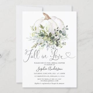 Rustic Greenery Floral Fall in Love Bridal Shower