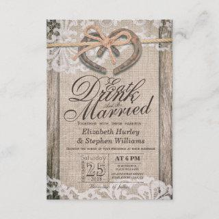 Rustic Horseshoe Lace EAT Drink Be Married Wedding