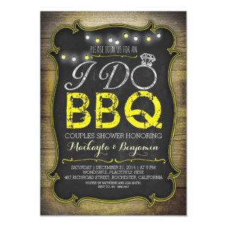 rustic I do BBQ couples shower Invitations - yellow