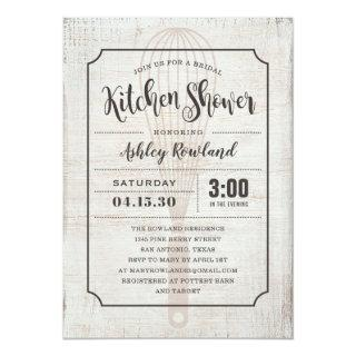 Rustic Kitchen Bridal Shower Invitations