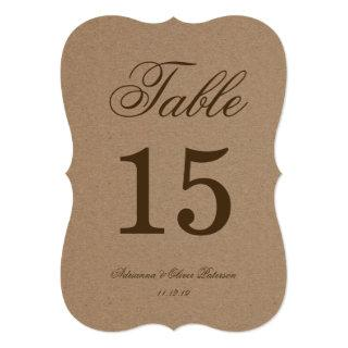 Rustic Kraft Paper Wedding Table Number