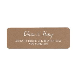 Rustic Kraft | Wedding Return Address Labels