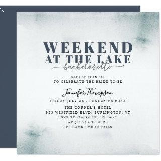 Rustic Lake Cabin Bachelorette Weekend Itinerary Invitation