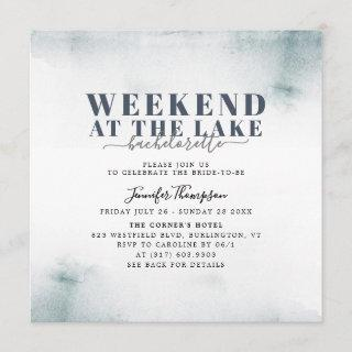 Rustic Lake Cabin Bachelorette Weekend Itinerary Invitations