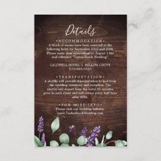 Rustic Lavender | Wooden Details Enclosure Card
