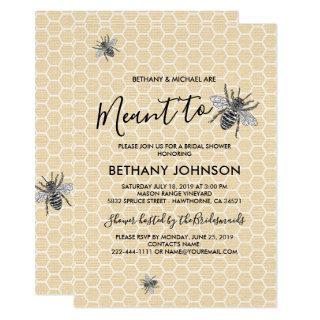 Rustic Meant to Bee Bridal Shower Invitation