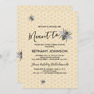 Rustic Meant to Bee Bridal Shower Invitations