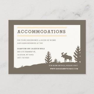Rustic Moose Outdoor Wedding Accommodations Enclosure Card