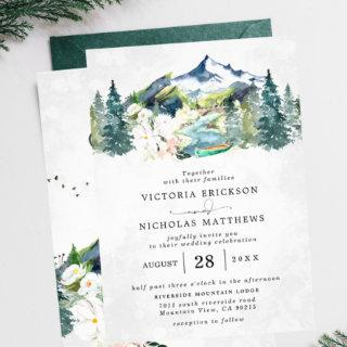Rustic Mountain Forest Evergreen Tree Wedding