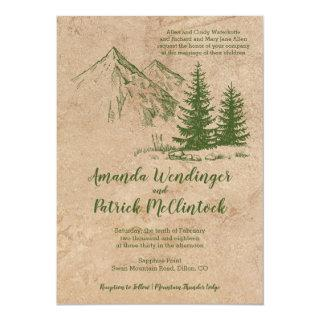 Rustic Mountain Scenic wedding Invites