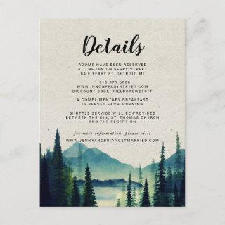 Rustic Mountain Wedding Guest Details Enclosure Card