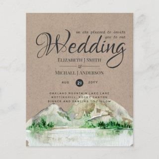 Rustic Mountain Wedding Lake Forest Wedding Invite