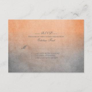 Rustic Orange and Grey Bohemian Wedding RSVP