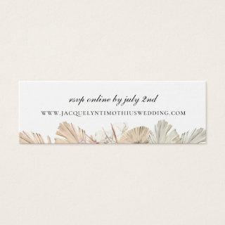Rustic Palm Frond Wedding Website RSVP