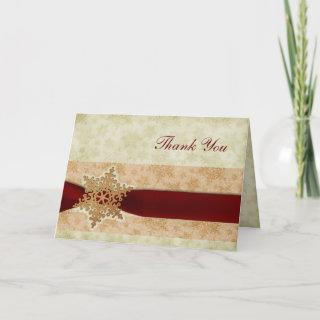 rustic red winter wedding Thank You