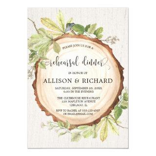 Rustic rehearsal dinner woodland forest Invitations