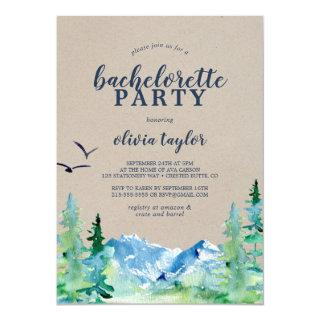 Rustic Rocky Mountain Bachelorette Party Invitation