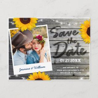 Rustic Save the Date Invitations | Sunflower Wood