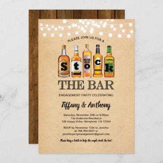 Rustic stock the bar engagement party retro