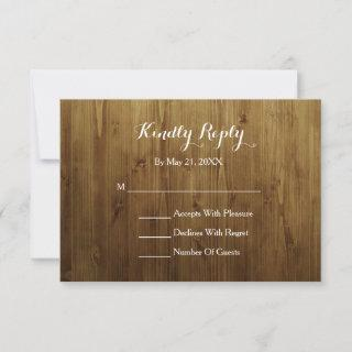 Rustic String Of Lights Country RSVP Card