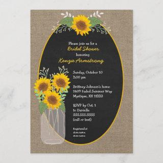 Rustic Sunflower bridal shower / baby shower Invitation