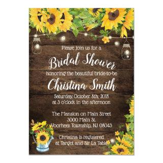 Rustic Sunflower Bridal Shower Invitaitons Invitation