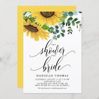 Rustic Sunflowers and Eucalyptus Bridal Shower Invitations