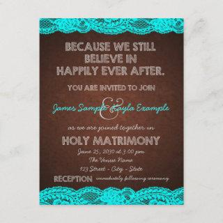 Rustic Teal Blue and Brown Country Wedding