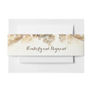 Rustic Tree Branches and Lights Invitations Belly Band