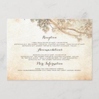 Rustic Tree Branches Wedding Information Guest Enclosure Card