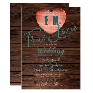 Rustic Turquoise Coral Wedding Invites Handwritten