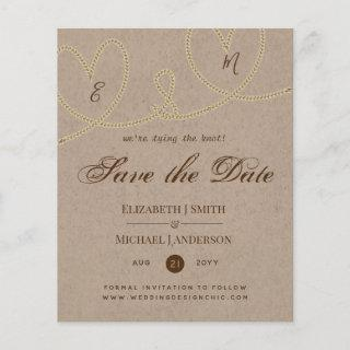 Rustic Tying the Knot Wedding SaveTheDate Vintage